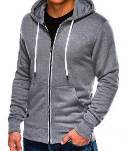 Pilkas melanžinis vyriškas džemperis su gobtuvu internetu pigiau B977 14058-1