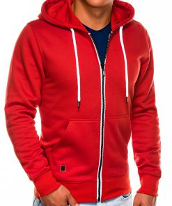 Raudonas vyriškas džemperis su gobtuvu internetu pigiau B977 14060-1