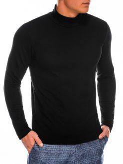 Juodas vienspalvis vyriškas megztinisgolfas internetu pigiau B1009 14066-1