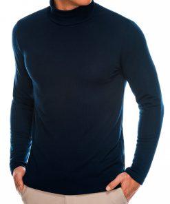 Tamsiai mėlynas vienspalvis vyriškas megztinisgolfas internetu pigiau B1009 14067-1