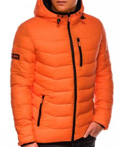 Oranzine rudenine striuke vyrams su kapisonu internetu pigiau C371 14071-6