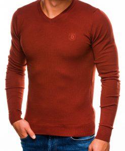 Raudonų plytų vyriškas megztinis internetu pigiau Ombre E745805-1