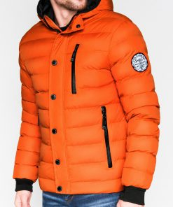 Oranžinė žieminė vyriška striukė internetu pigiau Activ C124 863-1