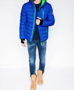 Mėlyna vyriška žieminė striukė internetu pigiau Activ C124 864-2