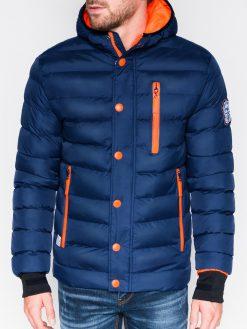 Tamsiai mėlyna žieminė vyriška striukė internetu pigiau ActivC124 866-1