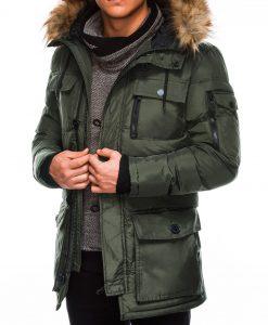 Chaki vyriška žieminė striukė internetu pigiau Rudvin C355 11042-1