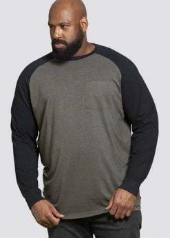 Chaki didelių dydžių vyriški marškinėliai ilgomis rankovėmis internetu pigiauIllinois KS60430