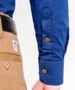 Mėlyni marškiniai vyrams ilgomis rankovėmis internetu pigiau K302 2549-3