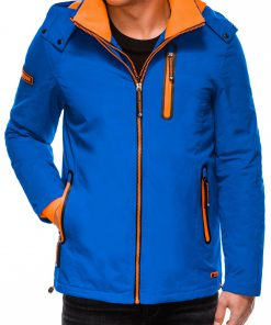 Mėlyna rudeninė vyriška striukė internetu pigiau Win C385 10574-4