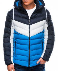 Mėlyna vyriška žieminė striukė internetu pigiau C418 14079-4