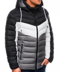 Pilka vyriška žieminė striukė internetu pigiau C418 14080-2