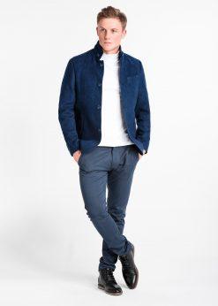 Tamsiai mėlynas rudeninis vyriškas paltas internetu pigiau C427 14089-1