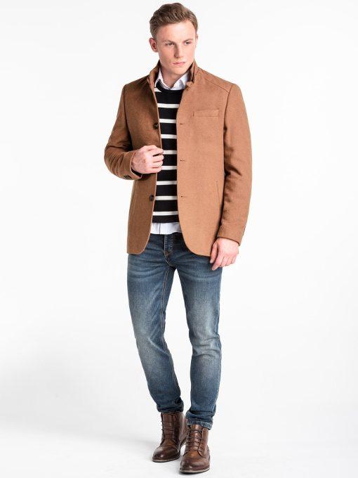 Rudas rudeninis vyriškas paltas internetu pigiau C427 14093-1