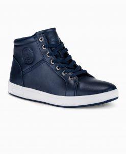 Tamsiai mėlyni laisvalaikio batai vyrams internetu pigiau paaukštinti T328 14098-2