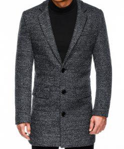 Pilkas rudeninis vyriškas paltas internetu pigiau C431 14103-2