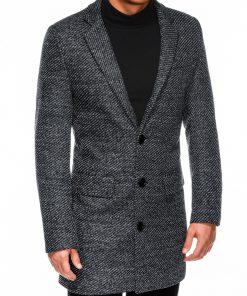 Pilkas rudeninis paltas vyrams internetu pigiau C431 14103-3