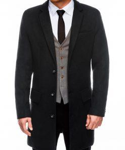 Juodas rudeninis vyriškas paltas internetu pigiau C432 14104-1
