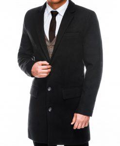 Juodas rudeninis vyriskas paltas internetu pigiau C432 14104-6