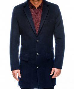 Tamsiai mėlynas rudeninis vyriškas paltas internetu pigiau C432 14106-4