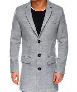 Pilkas rudeninis vyriškas paltas internetu pigiau C432 14108-1