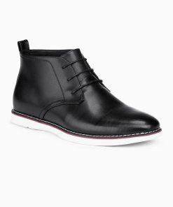 Juodi odiniai batai vyrams internetu pigiau T318 14110-1