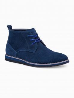 Tamsiai mėlyni odiniai batai vyrams internetu pigiau T331 14113-1