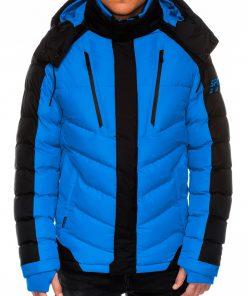 Mėlyna vyriška žieminė striukė internetu pigiau C417 14115-7