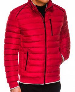 Raudona vyriška žieminė striukė internetu pigiau C422 14119-3