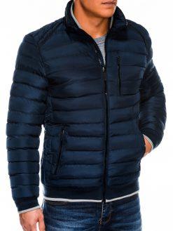 Tamsiai mėlyna vyriška žieminė striukė internetu pigiau C422 14120-4