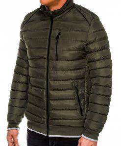 Žalia vyriška žieminė striukė internetu pigiau C422 14121-3