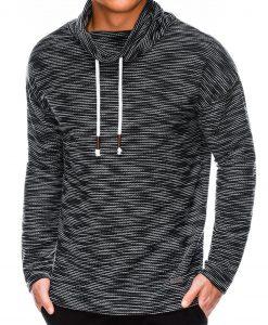 Juodas vyriškas džemperis internetu pigiau B1013 14126-2