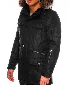 Juoda vyriška žieminė striukė ALASKA tipo PARKA internetu pigiau Ritorn C382 C410 14129-2