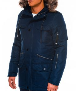 Tamsiai mėlyna žieminė vyriška striukė ALASKA tipo PARKA internetu pigiau Ritorn C382 C410 14130-6