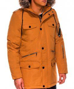 Geltona vyriška žieminė striukė ALASKA tipo PARKA internetu pigiau Ritorn C410 14131-5