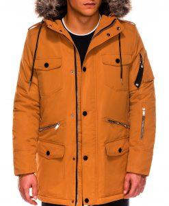 Geltona žieminė vyriška striukė ALASKA tipo PARKA internetu pigiau Ritorn C410 14131-7