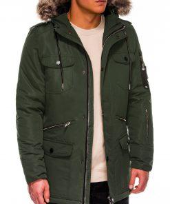 Chaki vyriška žieminė striukė ALASKA tipo PARKA internetu pigiau Ritorn C382 C410 14132-2