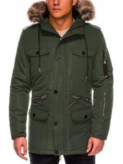 Chaki žieminė vyriška striukė ALASKA tipo PARKA internetu pigiau Ritorn C382 C410 14132-6