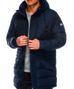 Tamsiai mėlyna žieminėvyriška striukė internetu pigiau Vucan C386 C411 14134-6