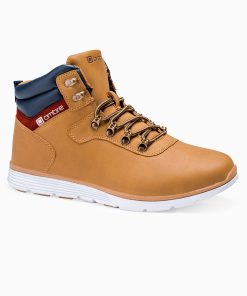 Rusvi laisvalaikio batai vyrams paaukštinti internetu pigiau T312 14139-4