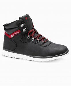 Juodi laisvalaikio batai vyrams paaukštinti internetu pigiau T312 14140-5
