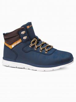 Tamsiai mėlyni laisvalaikio batai vyrams paaukštinti internetu pigiau T312 14141-6