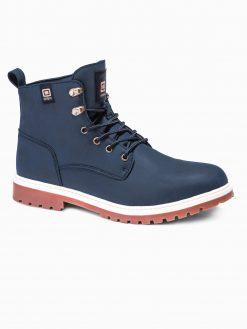 Tamsiai mėlyni žieminiai batai vyrams internetu pigiau T314 14147-2