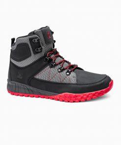 Juodi žieminiai batai vyrams internetu pigiau T315 14149-6