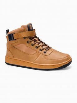 Rusvi sneakers batai vyrams paaukštinti internetu pigiau T317 14155-5