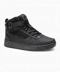 Juodi sneakers batai vyrams internetu pigiau paaukštinti T317 14156-2