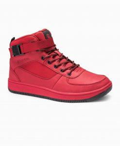 Raudoni sneakers batai vyrams internetu pigiau paaukštinti T317 14157-1