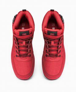 Raudoni sportiniai batai vyrams internetu pigiau paaukštinti T317 14157-2