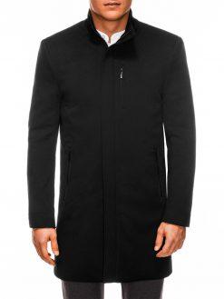 Juodas rudeninis vyriškas paltas internetu pigiau C430 14161-6