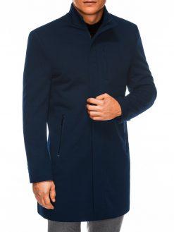 Tamsiai mėlynas rudeninis vyriškas paltas internetu pigiau C430 14162-5