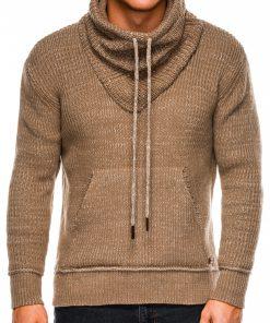 Rusvas vyriškas megztinis internetu pigiau E152 14167-2